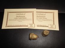 2 X COLLECTABLE THIMBLE GUILD + CERTIFICATES GOLDEN CANDLE THIMBLES 1992 UNUSED